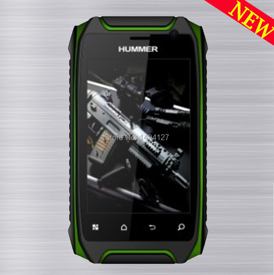 Rugged 512M 4G Hummer H1 H1 Mobile phone MTK6572A GPS Android 4 2 2 IP67 Waterproof