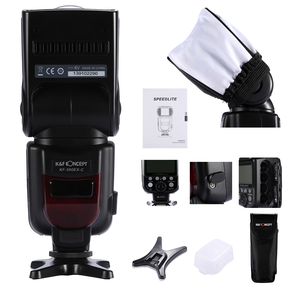 KF-590 EX-C Wireless TTL Flash Speedlite for Canon EOS 5D Mark II 5D3 7D 6D 70D 650D 5DIII 5D II 60D as YONGNUO YN565EX II<br>