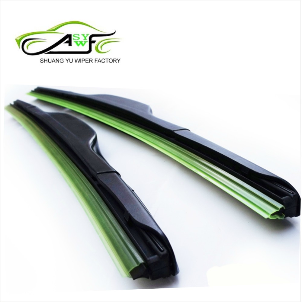 top quality u hook car wiper blade natural rubber abs material auto windshield wiper 14 26inch. Black Bedroom Furniture Sets. Home Design Ideas