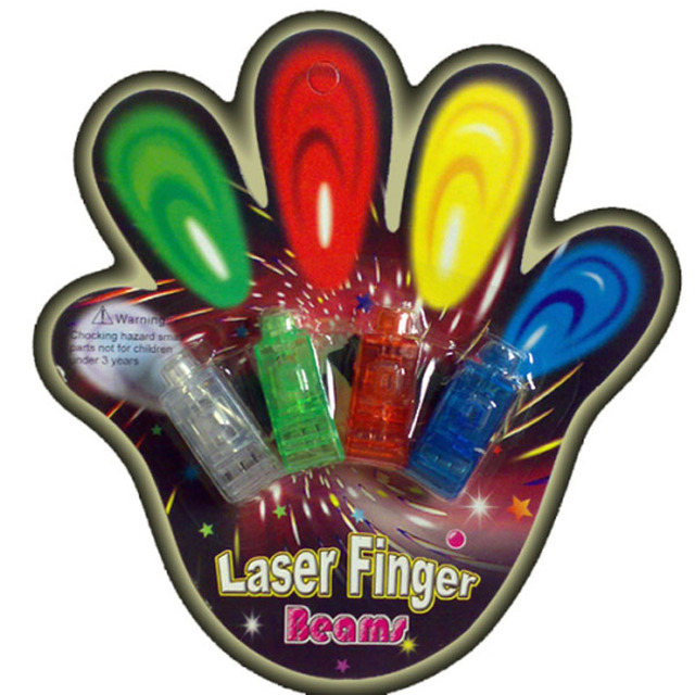 Hot  colorful Favors And Gifts Navidad Hot Selling Led Finger Ring Laser Beam Torch Balloon Light for Decoration