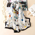 Vanled brand 2017 spring summer women scarf fashion soft long silk scarves shawls lady wraps print