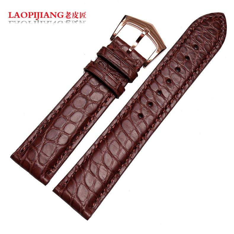 Laopijiang Кожаный Ремешок адаптер PP супер сложные функции времени Крокодиловой Кожи Ремешок Для Часов 20 мм