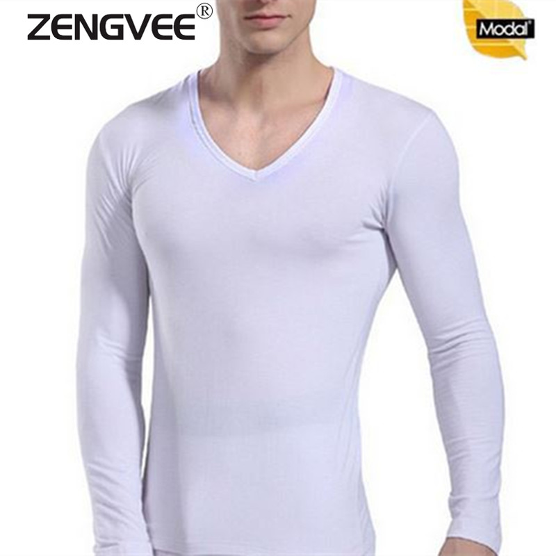 Men Modal Tight Slim Top Thermal Underwear Mens Soft And Sweat Quality Long Johns Long Sleeve Undershirts Free shipping(China (Mainland))
