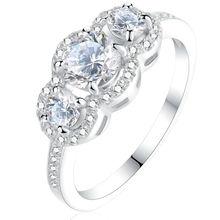 Новый 3 Настройка Камни Стерлингового Серебра 925 ААА Цирконий Halo Обручальное Кольцо Для Женщин Модный Стиль Бесплатная Доставка(China (Mainland))