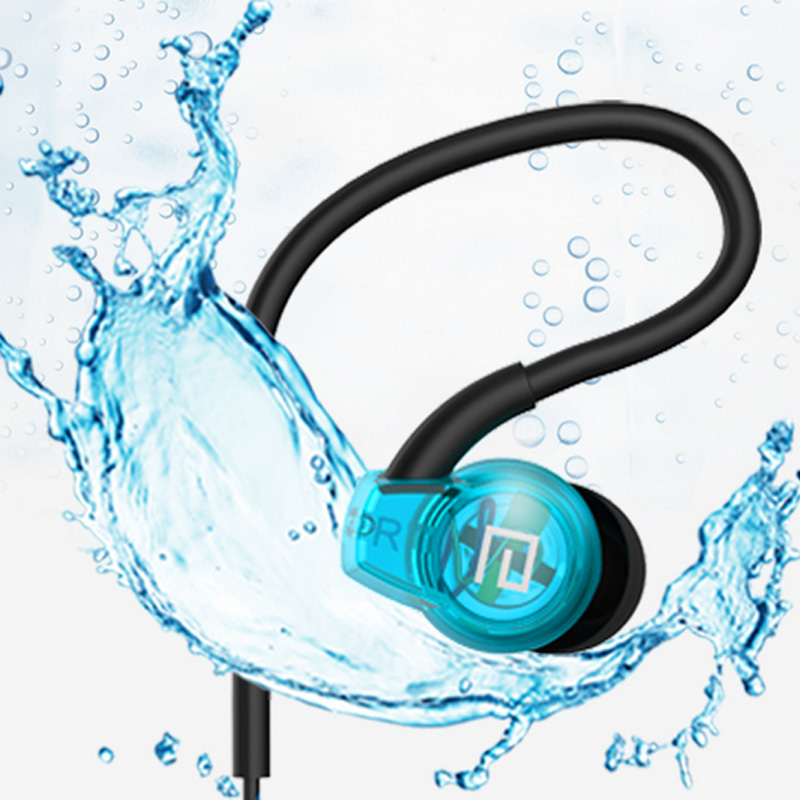 Transparent HIFI Sweatproof Sport 3.5mm Stereo Bass earphone Headphone Headset With Mic for mobile your Phone iphone Samsung MP3(China (Mainland))