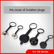 Free shipping 5Pieces GX12 GX16 GX20 Aviation Plug Cover Waterproof Connector Plugs Dust Rubber / Metal Cap for GX12/16/20 Plug(China (Mainland))