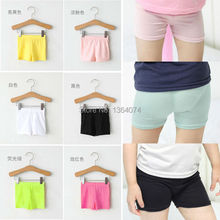 Summer Fashion Girls 100% Cotton Short Leggings Kids Girls ElasticModal Leggings Pants,Girls Shorts