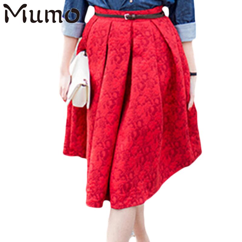 plus size vintage skirt new fashion 2016 casual