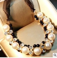 2016 Time-limited Sale Jewelry Necklaces Vivi Models Big Crystal Necklace Sweater Chain Female Flowers Short Paragraph Clavicle
