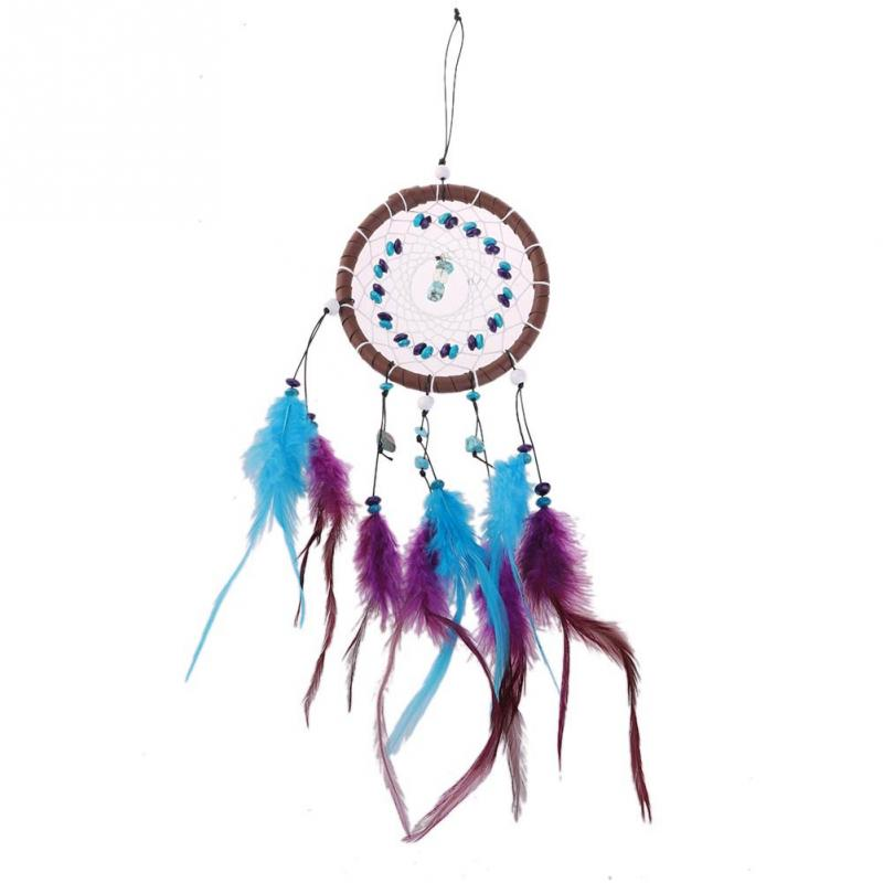 2015 New Fashion Wind Chimes Indian Style Feather Pendant Dream Catcher Gift Home Decor