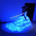 SS8 LED light women dresses party event blue light dress ballroom dance costumes stage show club