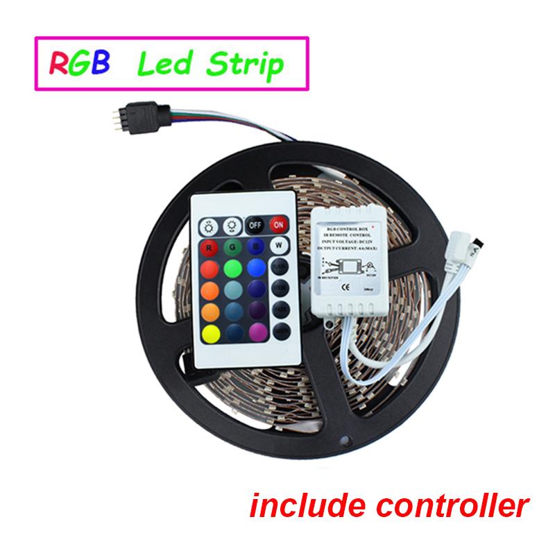 3528 led strip 5M/roll 60led/M led strips SMD 3528 DC12V safe led bar light,24Key IR remote controller(only for RGB) RoHS CE(China (Mainland))