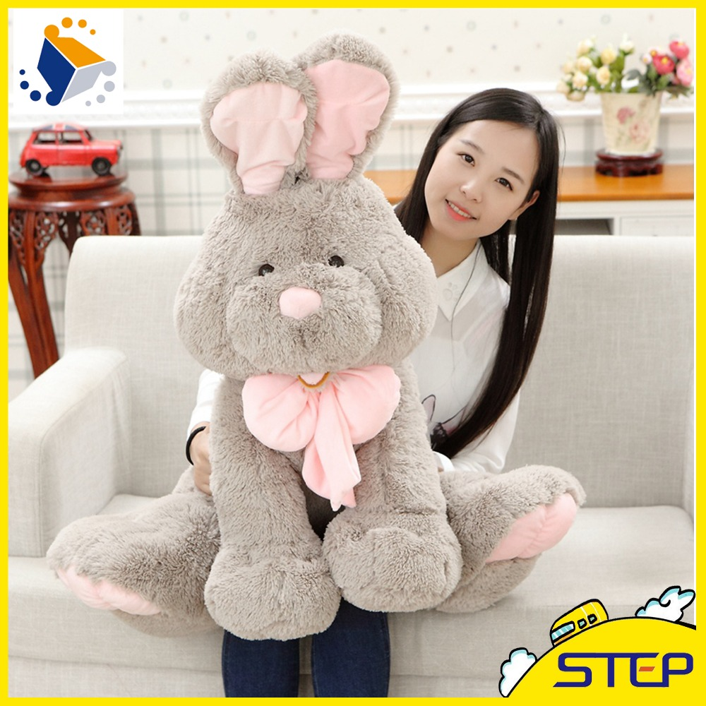 New Arrival Gray Giant Rabbit Plush Toy Cute Bunny Stuffed Animal Toy Baby Toys Gifts for Kids Free Shipping ST194(China (Mainland))
