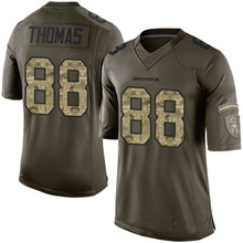 Men's #88 Demaryius Thomas Elite Green Salute to Service Football Jersey %100 Stitched(China (Mainland))