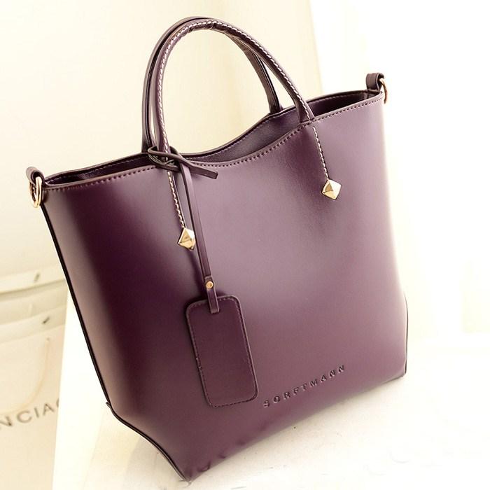 2015 Woman Fashion Leather Shoulder Bag bucket style women handbag brand design 3 colors free shipping(China (Mainland))