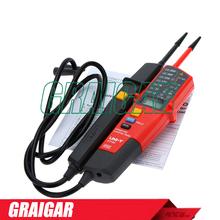 Tensión Portable y continuidad probadores UNI-T UT18C 12 V – 690 V LED AC / DC tensión de rango automático voltímetro del probador del voltaje
