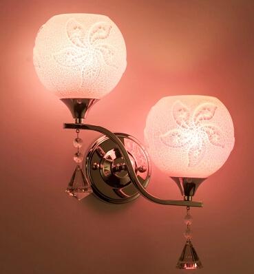 Фотография Wall lamp bedside lamp creative led wall lights sitting room bedroom stairs chinese-style corridor crystal wall lamp