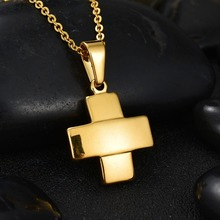 Buy New Accessories 316L Stainless Steel Wide Cross Necklace Never Fade GP Chain Necklace Christian Pendant Jewelry for $2.97 in AliExpress store