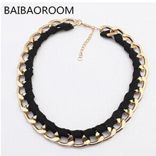Buy gold vintage chain statement necklace women new collar fashion jewelry accessories party necklaces & pendants jewellery 0241 for $1.26 in AliExpress store