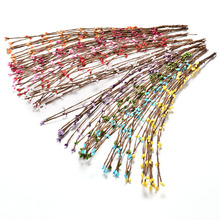 40cm Bud Artificial Branches Flower Iron Wire For Wedding Decoration DIY Scrapbooking Decorative Wreath Fake Flowers 10Pcs (China (Mainland))