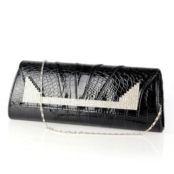 2012 diamond stone pattern day clutch crocodile pattern shoulder bag rhinestone clutch bag serpentine pattern clutch