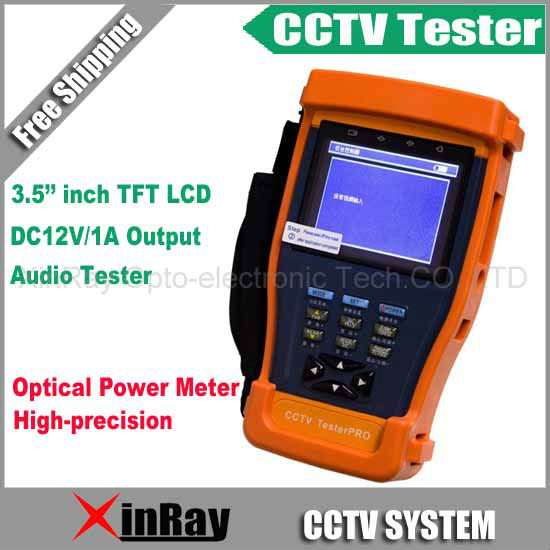 CCTV Tester with Optical Power Meter Monitor Camera Video Test / PTZ UTP RS485 XR-CT6,Free Shipping<br><br>Aliexpress