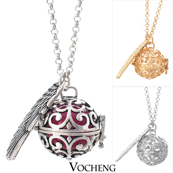 Pregnancy Ball Bola 3 Colors Angel ball in Pendants Baby Ringing Necklace (VA-025) Free Shipping(China (Mainland))