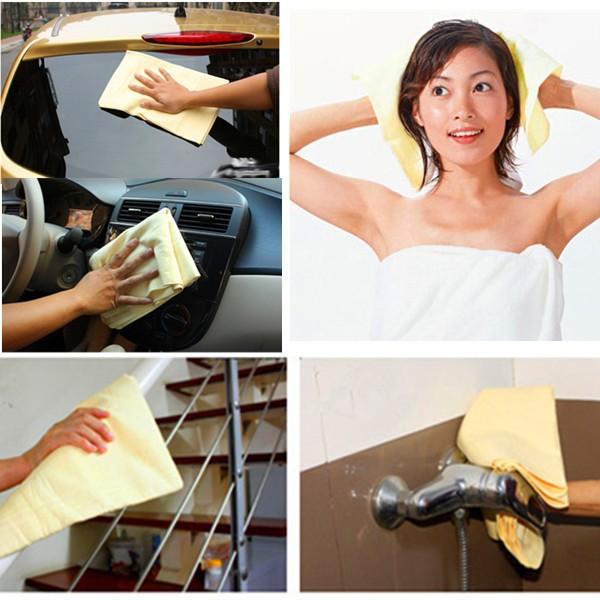 Super Absorption Synthetic Deerskin  Imitation buckskin PVA Chamois Cham Car Wash Towel Auto Clean Towel