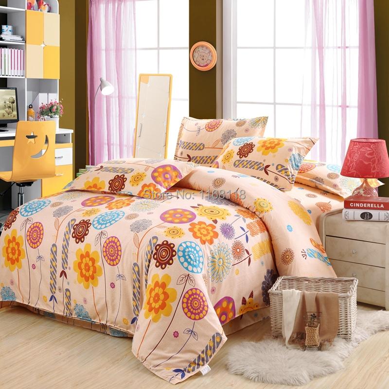 beautiful flower bedding set 4 pcs bedclothes include 1
