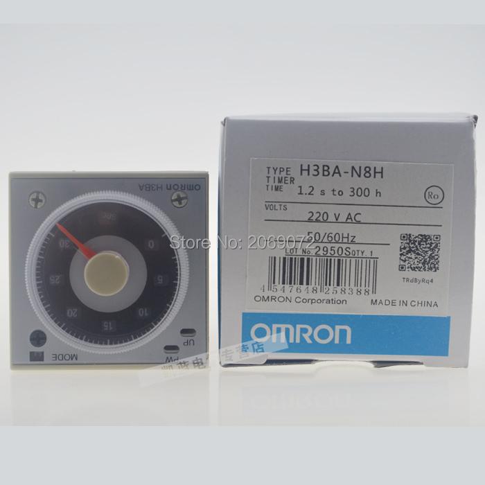 New OMRON Multifunctional Time Timer relay H3BA-N8H 8PIN 2NO 2NC AC 110V(China (Mainland))