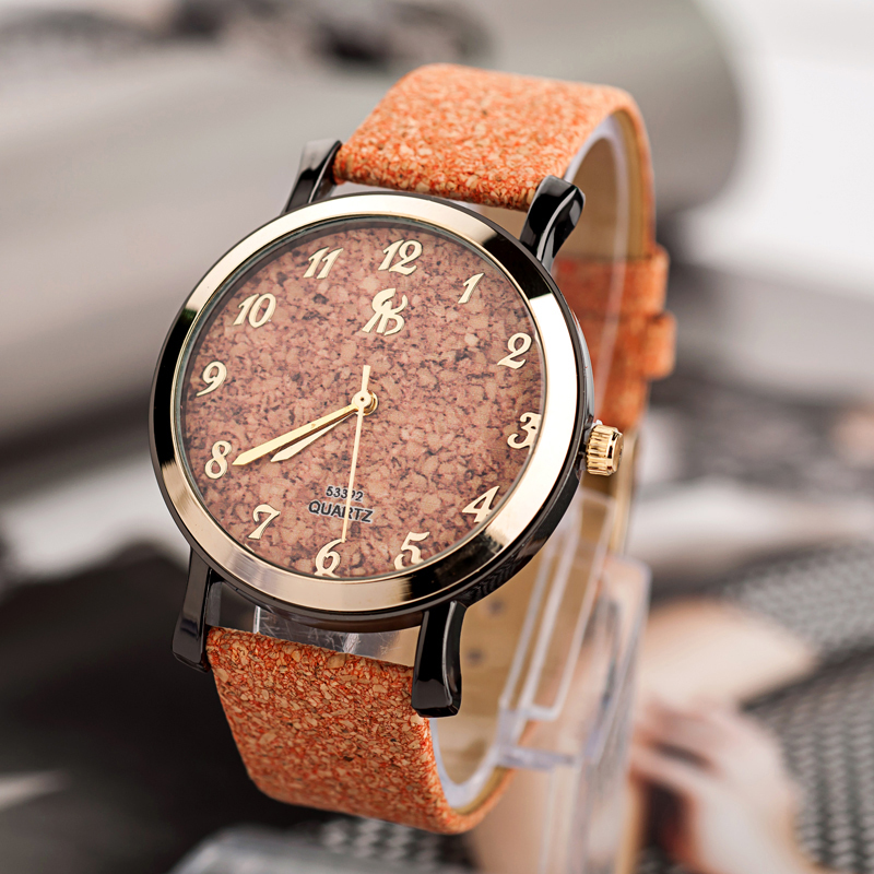 CP019 Wholesale Leather watch Fashion quartz watch women Men Unique mosaic dial Bracelet watch military watches-free shipping(China (Mainland))