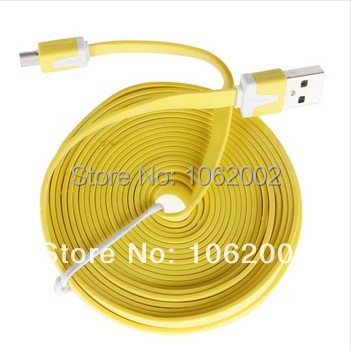 70pcs/lot 3M Flat Noodle V8 Micro USB Data Cable Sync Charger for Samsung HTC Nokia 8 Colors High Quality free shipping(China (Mainland))