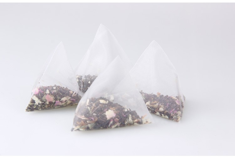rose+puer flower tea health beauty organic natural Triangle tea bags 6 kinds of taste free shipping