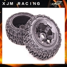 Buy 1/5 rc car parts, Rear knobby/wasteland wheel tire (x 2pcs/set) 1/5 scale hpi rovan baja 5t/5sc for $73.86 in AliExpress store