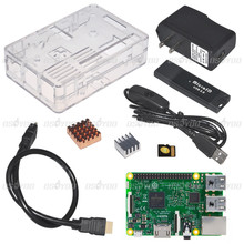 Raspberry Pi 3 Model B Board+HDMI cable+16GB TF Card card reader+Power Cable+US Power Plug+Heat Sink+Clear Case pi set - Vership Co., Ltd store