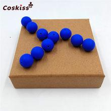 10 PC Silikon Alami Manik-manik Bulat 15 Mm Mengunyah Keperawatan Beads Pesona Kalung Liontin BPA Free Baby Silikon Teething Teether mainan(China)