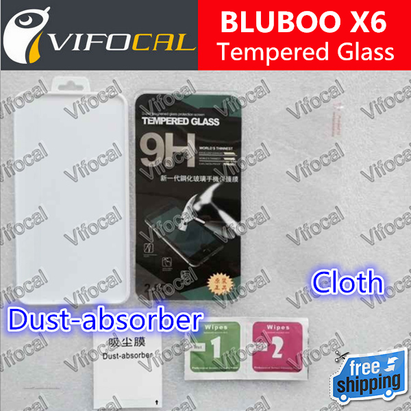 BLUBOO X6 tempered glass 100% Original High Quality Screen Protector Film Cell Phone Accessories + Free shipping + In Stock(China (Mainland))