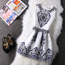 Buy Fashion Women Summer Autumn Casual Vintage Vest Party Dress Floral Printed Princess Sleeveless Slim Dresses Clothing Vestidos for $7.89 in AliExpress store