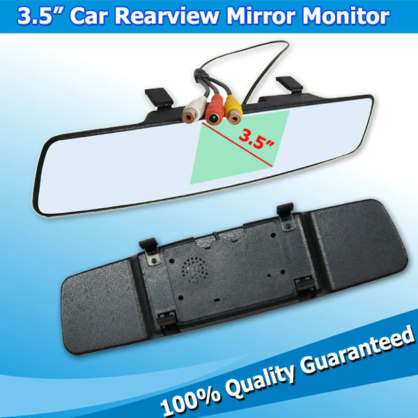 3.5 Inch HD Digital Screen Automobile Rear View Mirror Monitor Back Camera/Video Input/ - Xanse Tech store