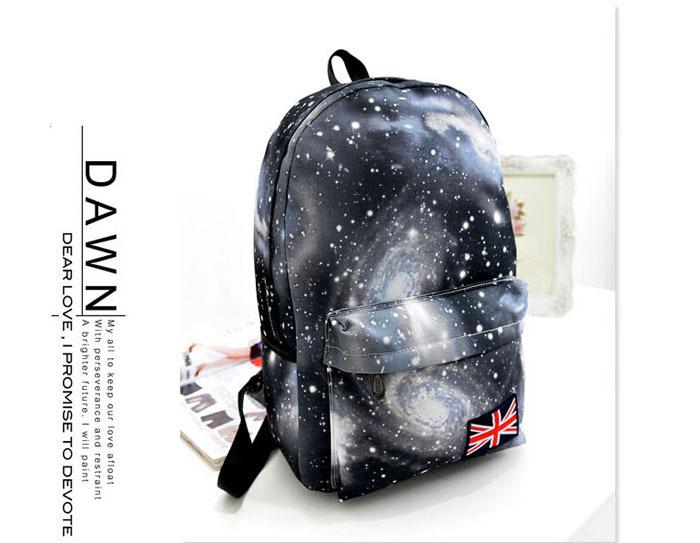 Fashion Women Stars Universe Space Printing Backpack School Book Mochila 15PCS lot