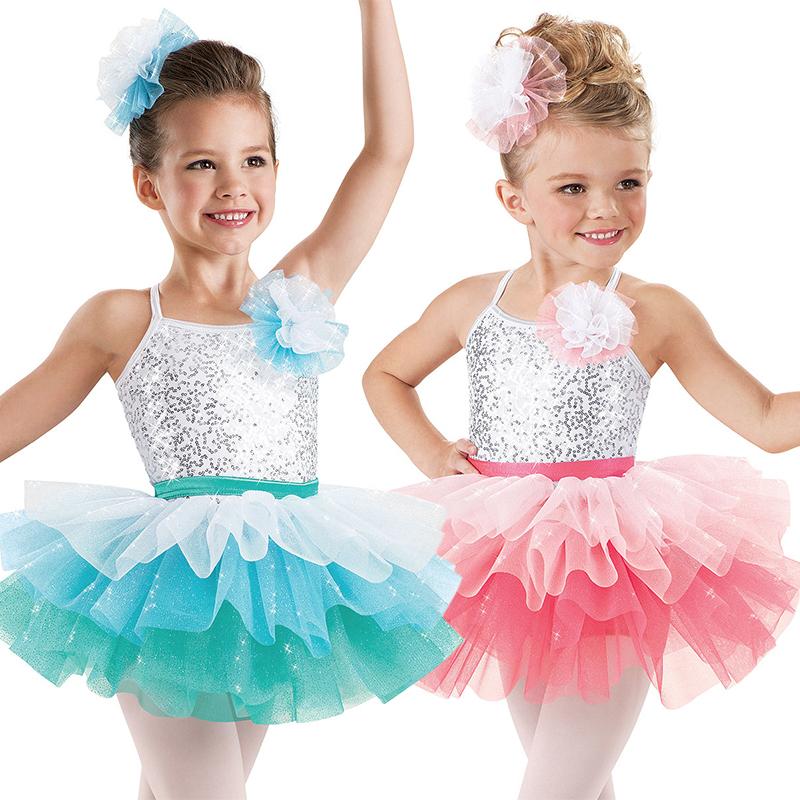 2015 New Gradient Ballet Dress Children Girl's Dance Costumes Girls Ballerina Dress Ballet Cloths Children Classical Ballet Tutu(China (Mainland))