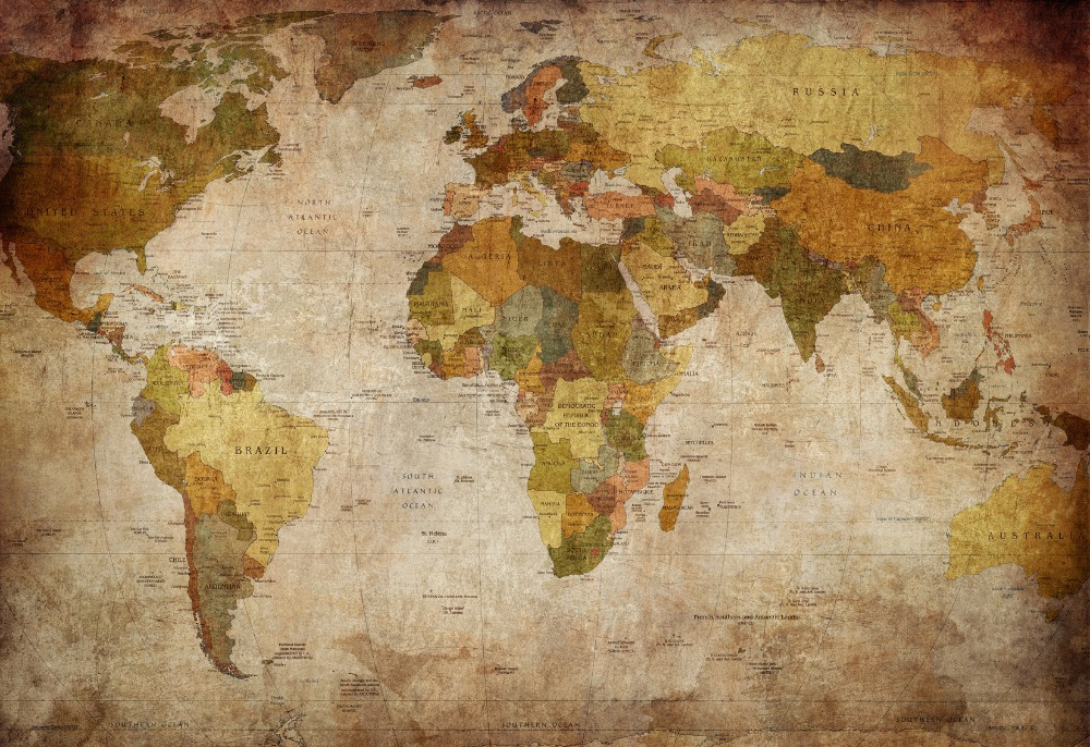 2015 carte du monde d coration peinture l 39 huile toile - Bon de reduction maison du monde ...