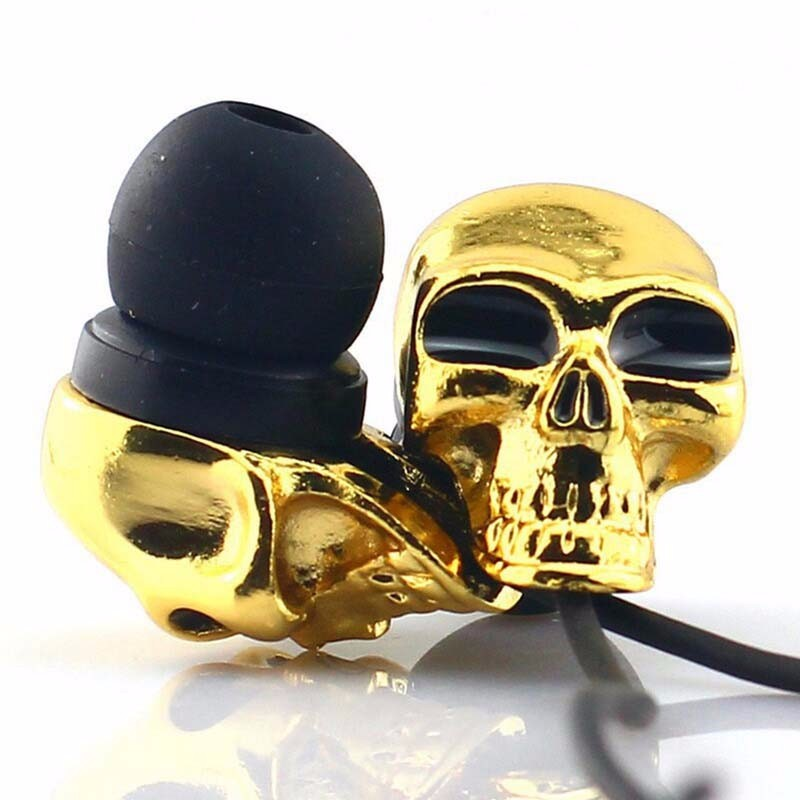Perfect Gift Cool Skull In Ear Earphone Stereo Metal Skeleton Sub-woof Earbuds 3.5mm Connector For Halloween Gift(China (Mainland))