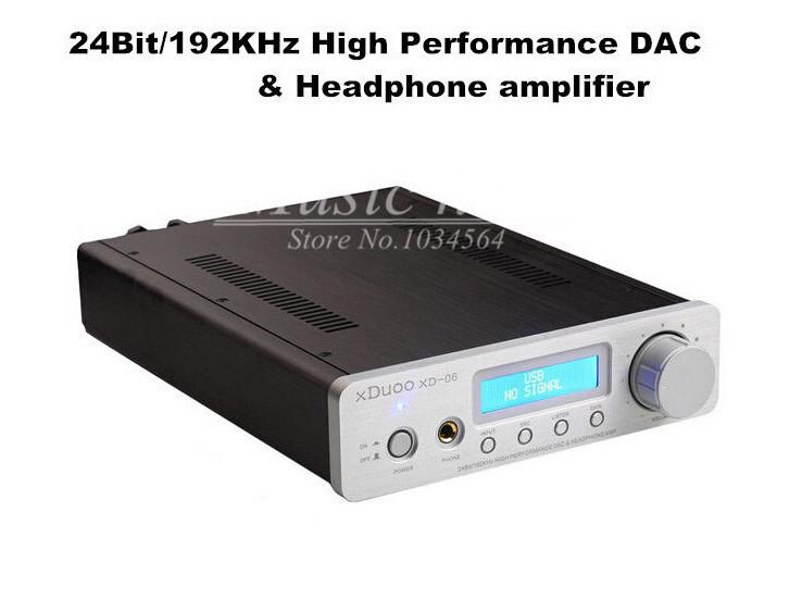 Music hall xDuoo XD-06 24Bit/192Khz USB/coaxial/optical DAC LED Desktop Headphone Amplifier<br><br>Aliexpress