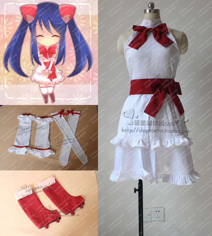 New Japan Anime Fairy Tail Wendy Marvell Cosplay Costume Full Set Custom-madeОдежда и ак�е��уары<br><br><br>Aliexpress