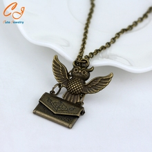 Owl Post Necklace with Hogwarts Acceptance Letter pendant locket necklace(China (Mainland))