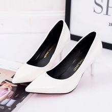 Artı Boyutu OL Ofis Bayan Ayakkabı Faux Süet Yüksek Topuklu Kadın Ayakkabı Sivri sivri uçlu ayakkabı Temel Pompalar Kadın Tekne zapatos mujer(China)