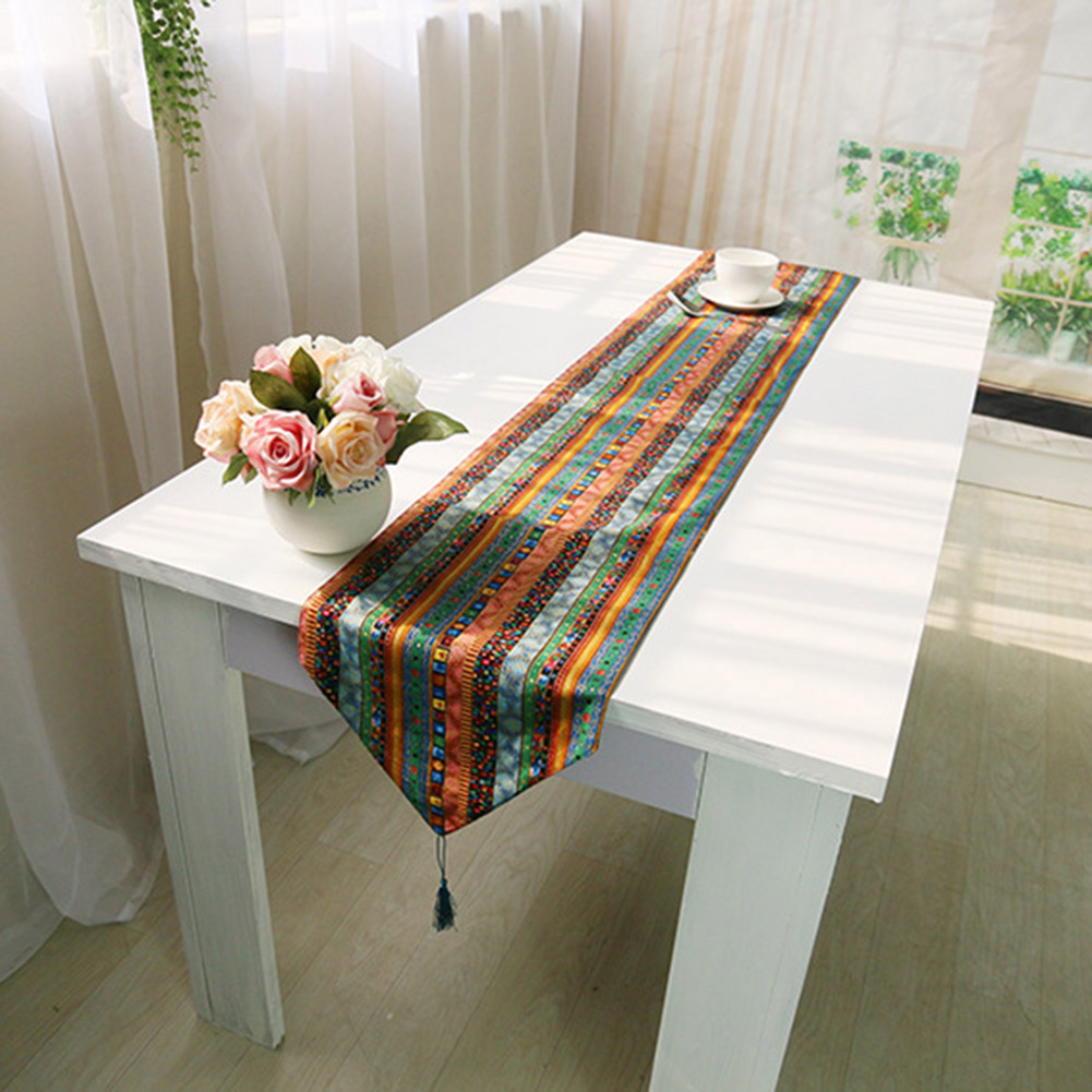 2016 Pastoral Ethnic Vintage Retro Bohemia Tower Cotton Linen Teatable Flag Table Cover Mantel Home Decorations Table Cloth(China (Mainland))