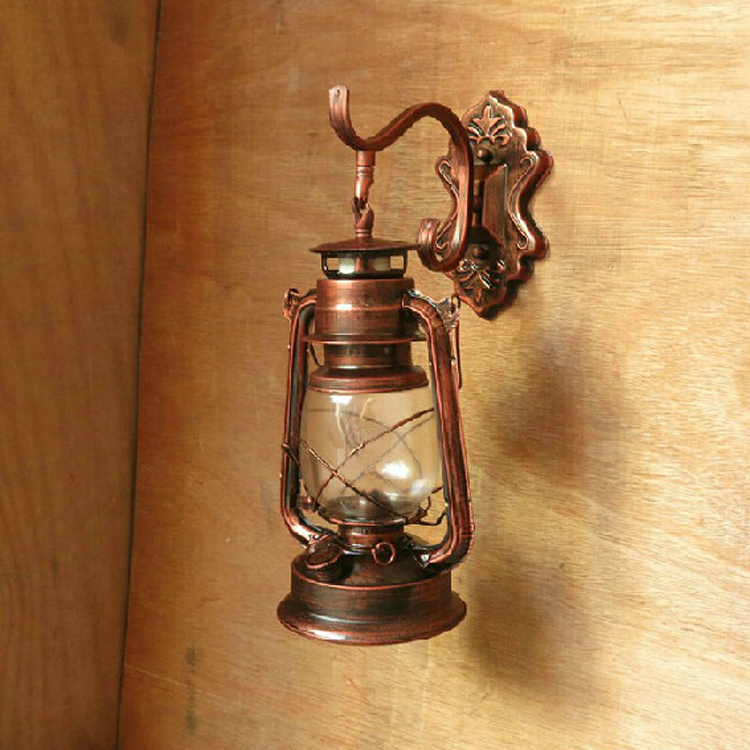 Free shipping Fashion vintage lantern kerosene lamp wall lamp aisle lights balcony antique wall ...