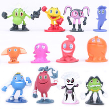 hot sale 12pcs/set mini  Terrible adventure doll pac-man Cartoon  PVC Action Figures Toys Dolls children Birthday Christmas gift(China (Mainland))